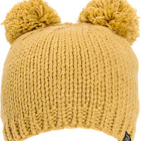 Powder Room Tan Double Pom Beanie