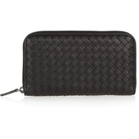 Bottega Veneta - Continental intrecciato leather wallet