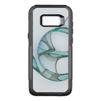 Fractal Art Blue Turquoise Gray Abstract Elegance OtterBox Commuter Samsung Galaxy S8+ Case