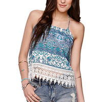 LA Hearts T Back Crochet Trim Tank at PacSun.com