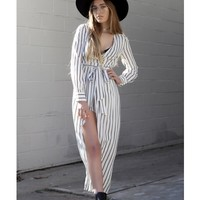 Margot Maxi Wrap Dress - Dresses + Rompers - Shop