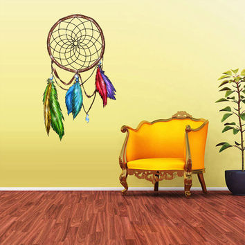 Full Color Wall Decal Mural Sticker Dream Catcher Dreamcatcher Art Paintings American Feathers Native (col154)