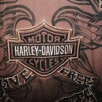 HARLEY DAVIDSON SHIRT BROWN VINTAGE BIKERS DREAM !SIZE XLCOTTON !