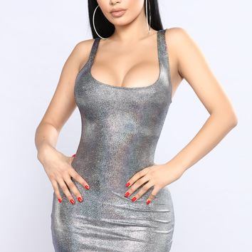 New Flame Dress - Silver