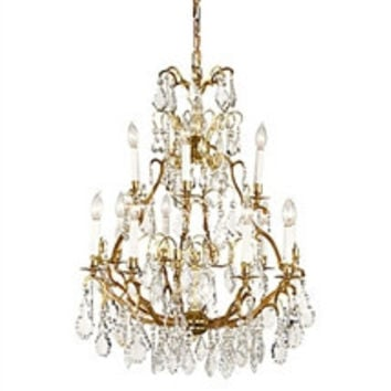 Frederick Cooper |  Crystal  and Gold Chandelier