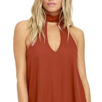 Flashback Rust Red Top