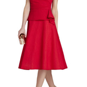 Tessa Strapless Short Dress - Red