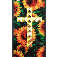 Sunflower Gold Studded Cross iPhone 5/5s Case