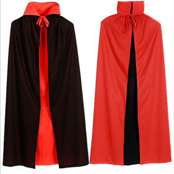 Medieval Cape Dress Costume Goth Witch Vampire Fancy Robe