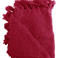 Marion Raspberry Boucle Throw