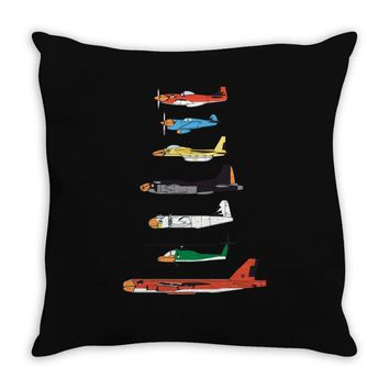 angry planes Throw Pillow