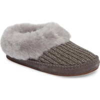 UGG® Wrin Rib-Knit & Genuine Shearling Slipper (Women) | Nordstrom