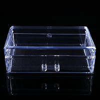 Anleolife Clear Acrylic Drawers Cosmetic Organizer 1 Drawer/Makeup Storage Box For Jewelries