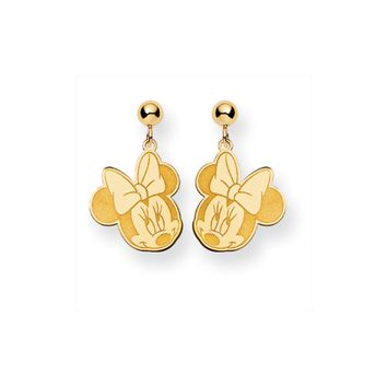 Disney's Flirty Minnie Mouse, Post Earrings in 14k Gold