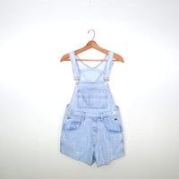 Vintage Denim Short Overalls Bib Overalls 80s Guess Overalls Denim Shorts Overalls Faded Light Blue Denim Bib Overalls Size 4