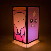 Adventure Time lamp nightlight - featuring Princess Bubblegum, Jake the Dog , Finn the Human, and Lumpy Space Princess