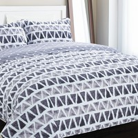 Doran King Quilt Set - Gray