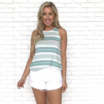 Coastal Vibes Stripe Tank Top