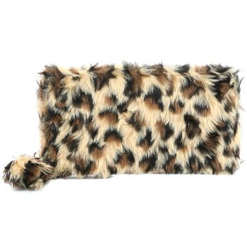 Furry Faux Fur Animal Clutch