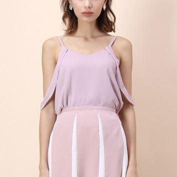 Radiant Forever Cami top in Pastel Pink