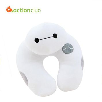 Actionclub 2016 New Arrival Baymax Pillows Famous U-Shape Neck Pillows For Travelling Hot Big Hero 6 U Shape Pillows HH568