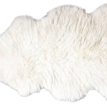 2'x3' Sheepskin Rug, Natural, Area Rugs