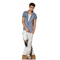 Justin Bieber Checkered Shirt Lifesize Standup Poster