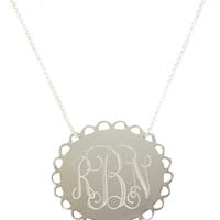 Monogrammed Scallop Necklace | Accessories | Marley Lilly