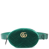 GG Marmont velvet and leather belt bag