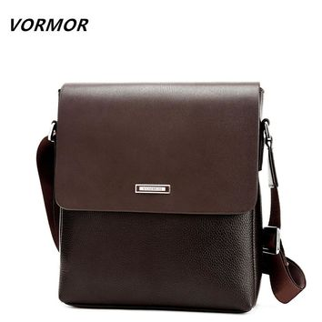 VORMOR 2017 Promotion Designers Brand Men's Messenger Bags PU Leather Vintage Men Shoulder Bag Man Crossbody bag