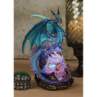 """Dragon Assassin"" Illuminated Sculpture - QS91653 - Design Toscano"