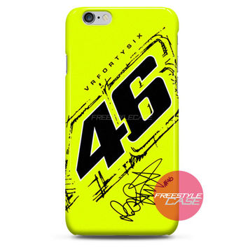 Valentino Rossi VR46 Forty Six Yellow iPhone Case 3, 4, 5, 6 Cover