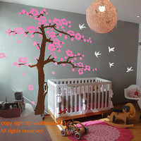Wall Decals - cherry blossom tree decals -100""