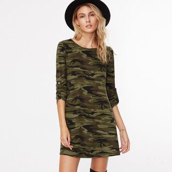 Chicloth Ocean Camouflage T-shirt Dress