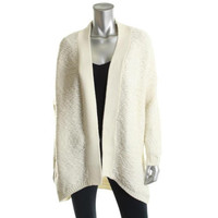 Guess Womens Wool Blend Long Sleeves Cardigan Sweater