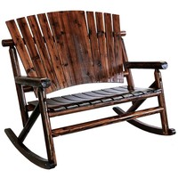 shop.crackerbarrel.com: Char-Log Wooden Double Rocker - Cracker Barrel Old Country Store