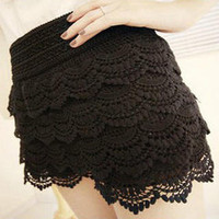 YESSTYLE: Angel Love- Crocheted Layered Skort - Free International Shipping on orders over $150