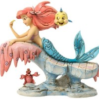 Jim Shore for Enesco Disney Traditions Little Mermaid Figurine, 6.25-Inch