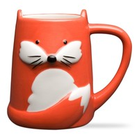 Foxy Tail Fox Mug, Unique Coffee Mug, Cool Ceramic Coffee Mug, Fox Ceramic Mug