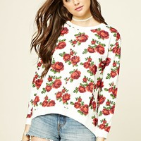 Rose Print Pullover