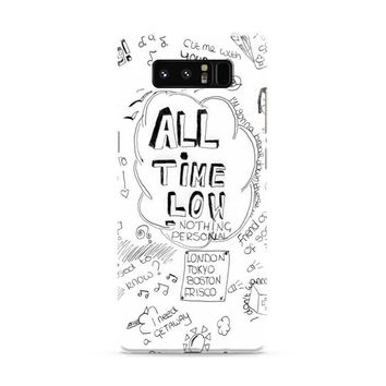 ALL TIME LOW DOODLE Samsung Galaxy Note 8 Case