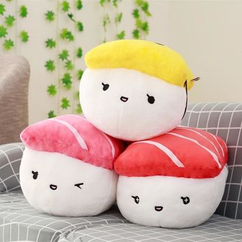 1pc 40cm Creative Japan Sushi Shape Plush Toys Stuffed Soft Sofa Pillow Kawaii Cushion Simulation Food Doll Gift for Girls Kids