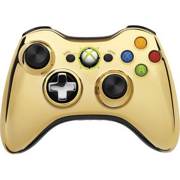 Microsoft - Special Edition Wireless Controller for Xbox 360 - Gold Chrome