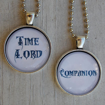 Doctor And Companion Necklace Set. 18 Inch Chains.