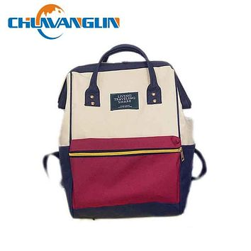 Canvas Printing Backpack Women School Bag Vintage Laptop Backpacks hand bag