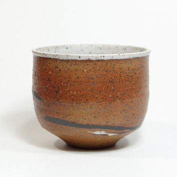 Brown stoneware tea bowl, chawan, yunomi with marbled clay, teacup, agate tea bowl, decorative bowl, tea cup, Father's day gift