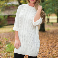 Warm For The Winter Sweater, Ivory