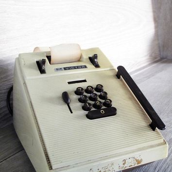 Vintage Victor Calculator/Adding Machine  Office by LetterKay