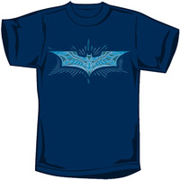 Batman Men's  Bat Armor Logo T-shirt Blue