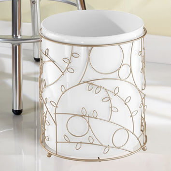 Twigz White/Pearl Champagne Waste Basket